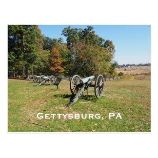Cartão Postal Fileira dos canhões no campo de batalha de