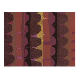 Cartão Postal Fileiras de Scallops roxos