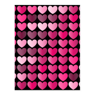 Cartão Postal Fileiras do coração