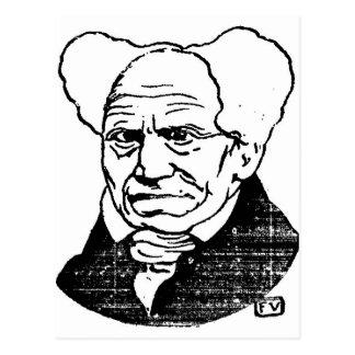 Cartão Postal Filósofo alemão Arthur Schopenhauer por Felix