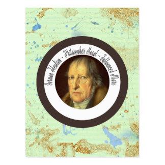 Cartão Postal Filósofo alemão Georg Hegel do idealista