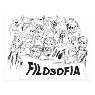 Cartão Postal FILOSOFOS platao aristoteles euclides sócrates