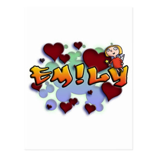 Cartão Postal first name Emily with! as j