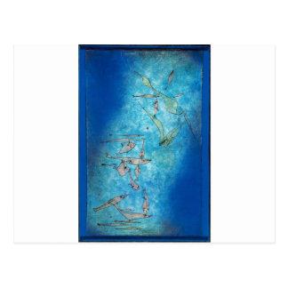 Cartão Postal Fish Image - Paul Klee