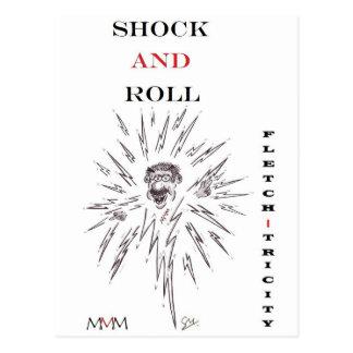 Cartão Postal Fletch-tricity - choque e rolo