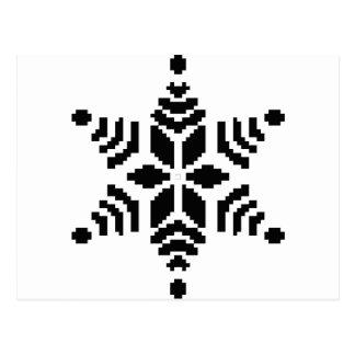 Cartão Postal Floco de neve preto