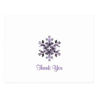 Cartão Postal Floco de neve roxo