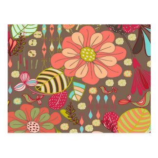 Cartão Postal Flor chique do hippy boémio da modificação de Boho