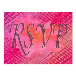 Cartão Postal Flor cor-de-rosa de RSVP