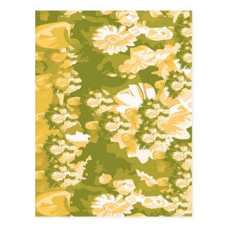 Cartão Postal Flores ideais e padrões mágicos