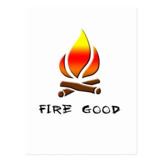 Cartão Postal fogo bom