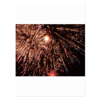 Cartão Postal fogos-de-artifício