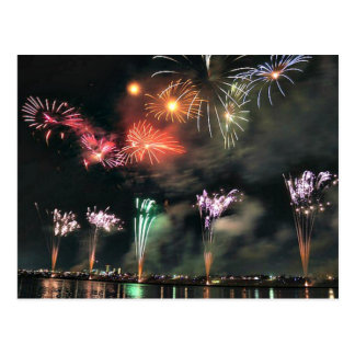 Cartão Postal Fogos-de-artifício espectaculares