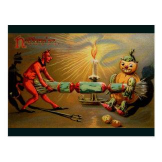 Cartão Postal Foguete do Dia das Bruxas
