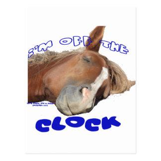 Cartão Postal Fora do cavalo preguiçoso do pulso de disparo