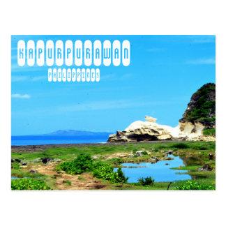 Cartão Postal Formação de rocha de Kapurpurawan