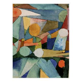Cartão Postal Formas da cor por Paul Klee
