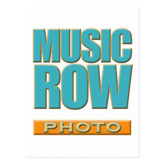 Cartão Postal Foto da fileira da música