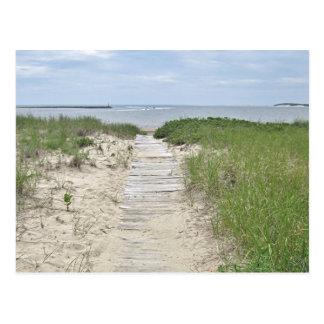 Cartão Postal Foto do passeio à beira mar da praia