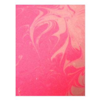 Cartão Postal Fotografia cor-de-rosa marmoreada da sobremesa