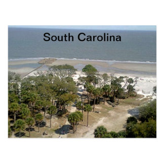 Cartão Postal Fotografia da praia de South Carolina