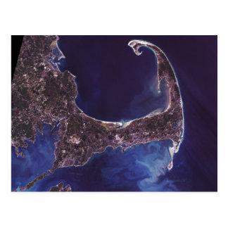 Cartão Postal Fotografia do satélite de Cape Cod