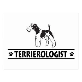 Cartão Postal Fox Terrier Wirehaired cómico