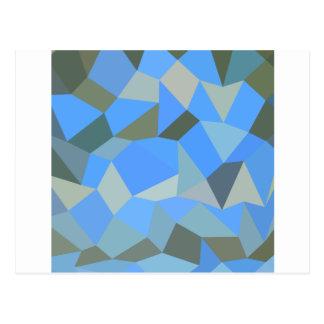 Cartão Postal Fundo do polígono do abstrato do azul de Bondi