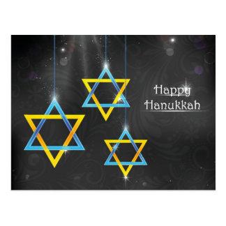 Cartão Postal Fundo feliz de Hanukkah