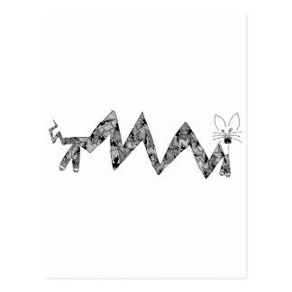 Cartão Postal gato com ângulos