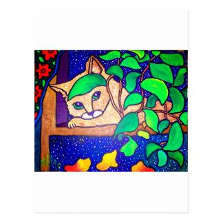 Cartão Postal Gato preguiçoso por Piliero