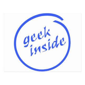 Cartão Postal Geek para dentro
