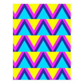 Cartão Postal geometrico do padrão