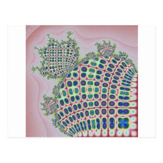 Cartão Postal Gerado por computador handcraft fractals dados
