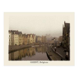 Cartão Postal Ghent, estilo do vintage