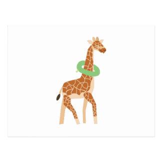 Cartão Postal Girafa com câmara de ar