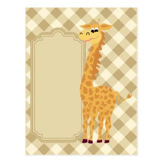 Cartão Postal Girafa engraçado