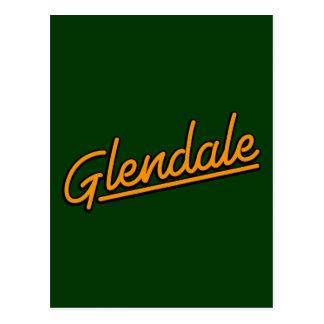 Cartão Postal Glendale na laranja