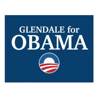 Cartão Postal GLENDALE para o costume de Obama sua cidade