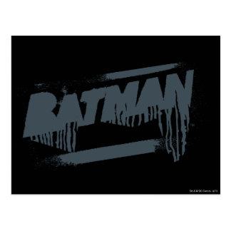 Cartão Postal Gotejamento conhecido da pintura de Batman