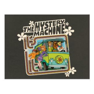 Cartão Postal Gráfico da máquina do mistério do Lit de