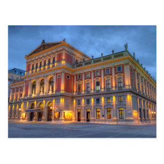 Cartão Postal Grande salão do Wiener Musikverein, Viena, Áustria