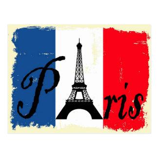 Cartão Postal Grunge de Paris