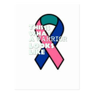 Cartão Postal Guerreiro do sobrevivente de câncer do tiróide