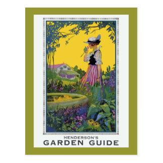Cartão Postal Guia do jardim de Henderson do vintage