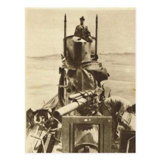 Cartão Postal Gunboat aliado no mar