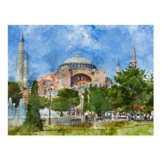 Cartão Postal Hagia Sophia em Sultanahmet, Istambul