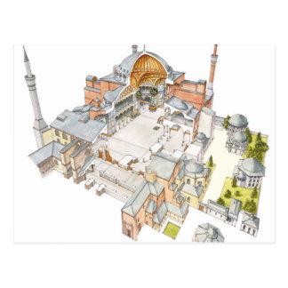 Cartão Postal Hagia Sophia. Istambul Turquey.