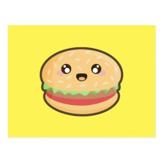 Cartão Postal Hamburger de Kawaii