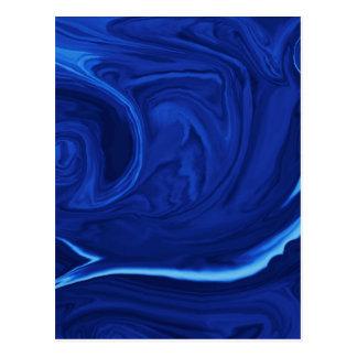 Cartão Postal Handmade Textured fundo dos azuis cobaltos